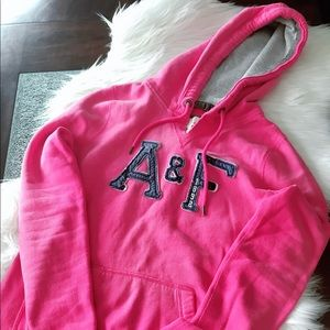 🌸A&F pink cute hoodies , good condition